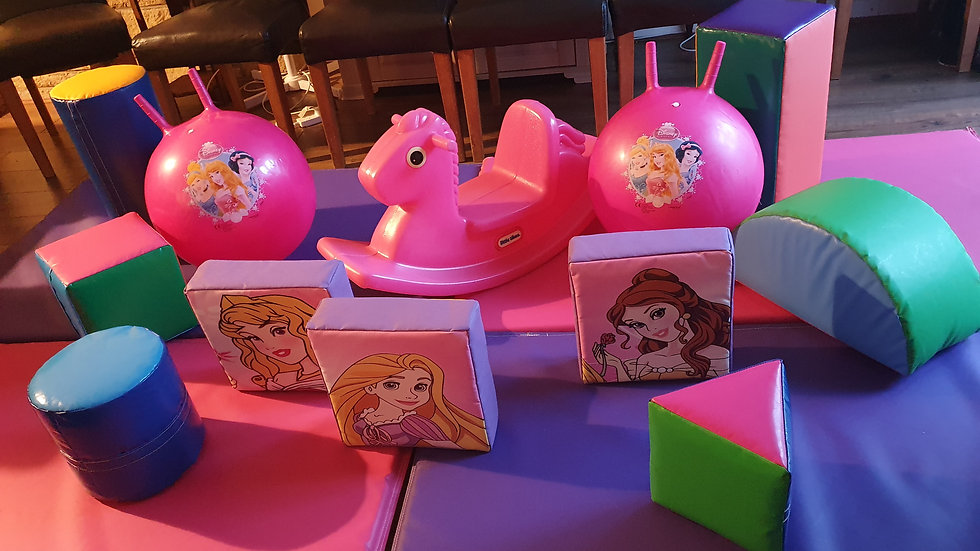Mini soft play set - multi-colour/princess
