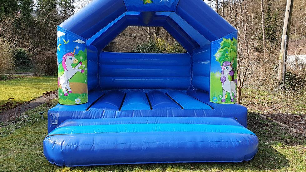 Unicorn theme 12ft x 12ft A-frame bouncy castle