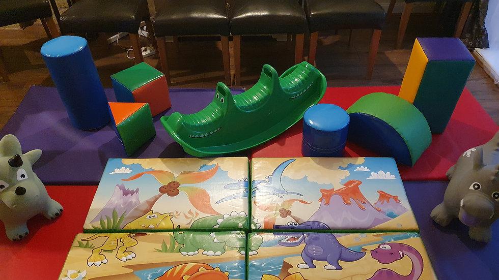 Mini soft play set - multi-colour/dinosaur