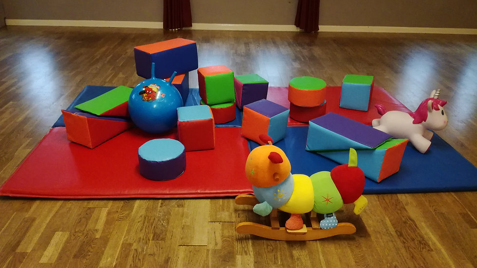 Mini soft play set - premium multi-colour