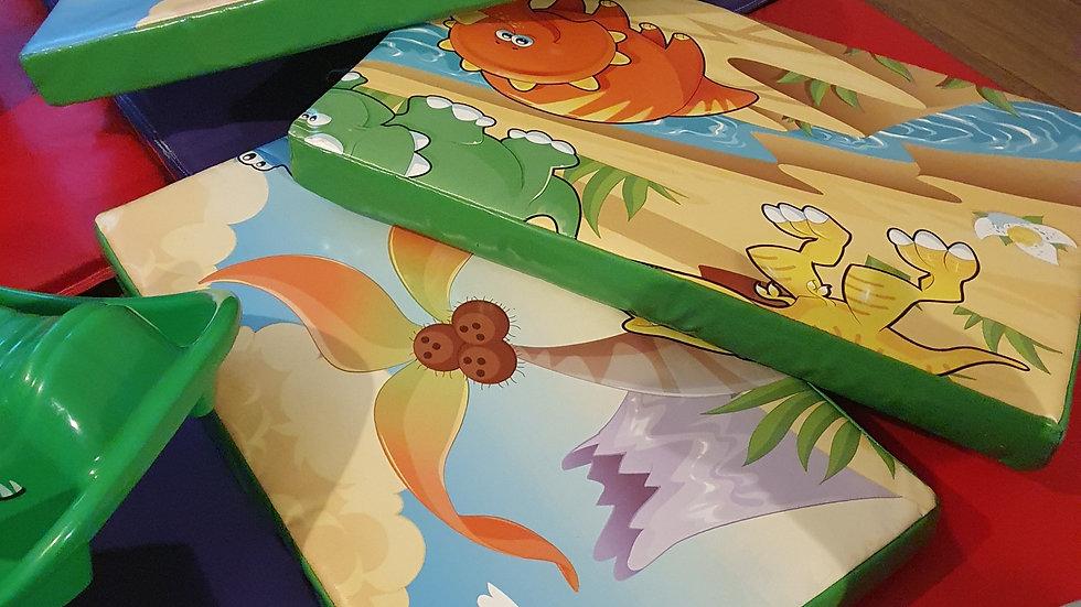Dinosaur soft play jigsaw (four pieces)