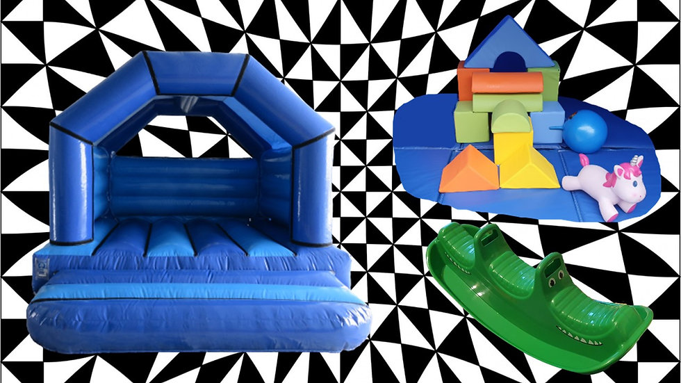 Budget bouncy castle and soft play deal