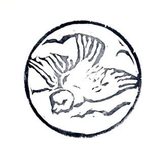Lino cut stamp