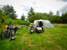 Kemping Husternoard Oudwoudekamperen met de tent
