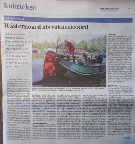 Nieuwsblad Noordoost Friesland augustus 2020