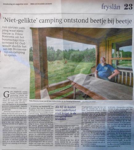 Leeuwarder Courant augustus 2020