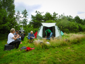 Kemping Husternoard Oudwoude kamperen met de tent