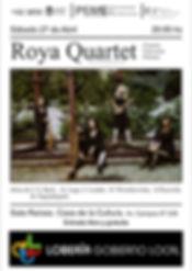 2019-04-27 Afiches Roya Quartet Loberia.