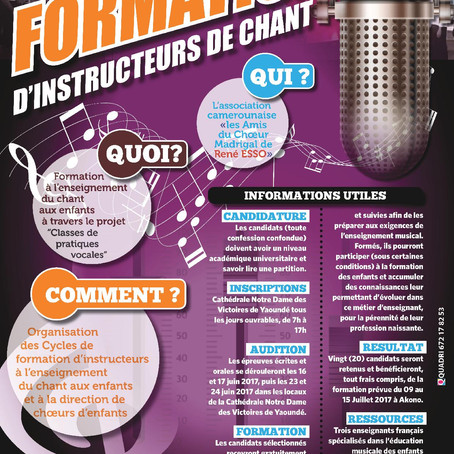 Audition pour la formation d'instructeurs de chant