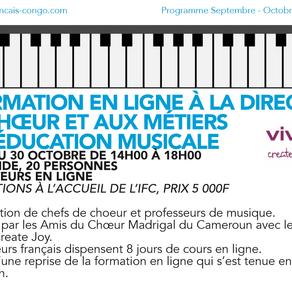 Formation en ligne à la demande de l'Institut Français du Congo