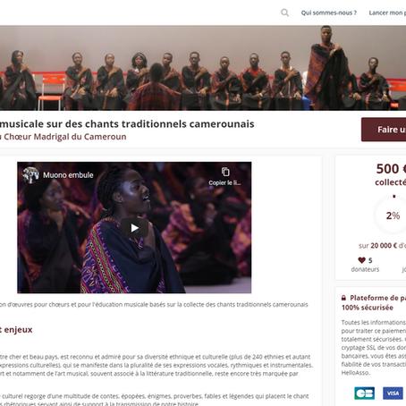 Création musicale sur des chants traditionnels camerounais