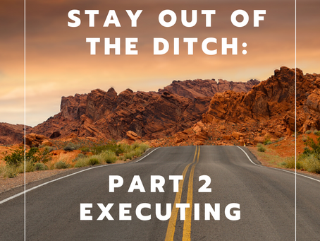 Stay Out Of The Ditch Part 2: Executing