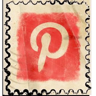 Pinterest Vintage Stamp