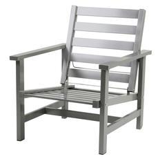 Fåtölj grå aluminium
