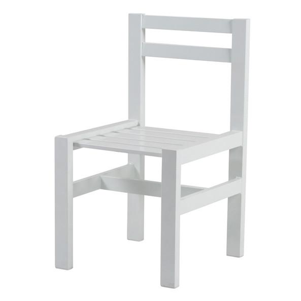 Vit aluminium stol