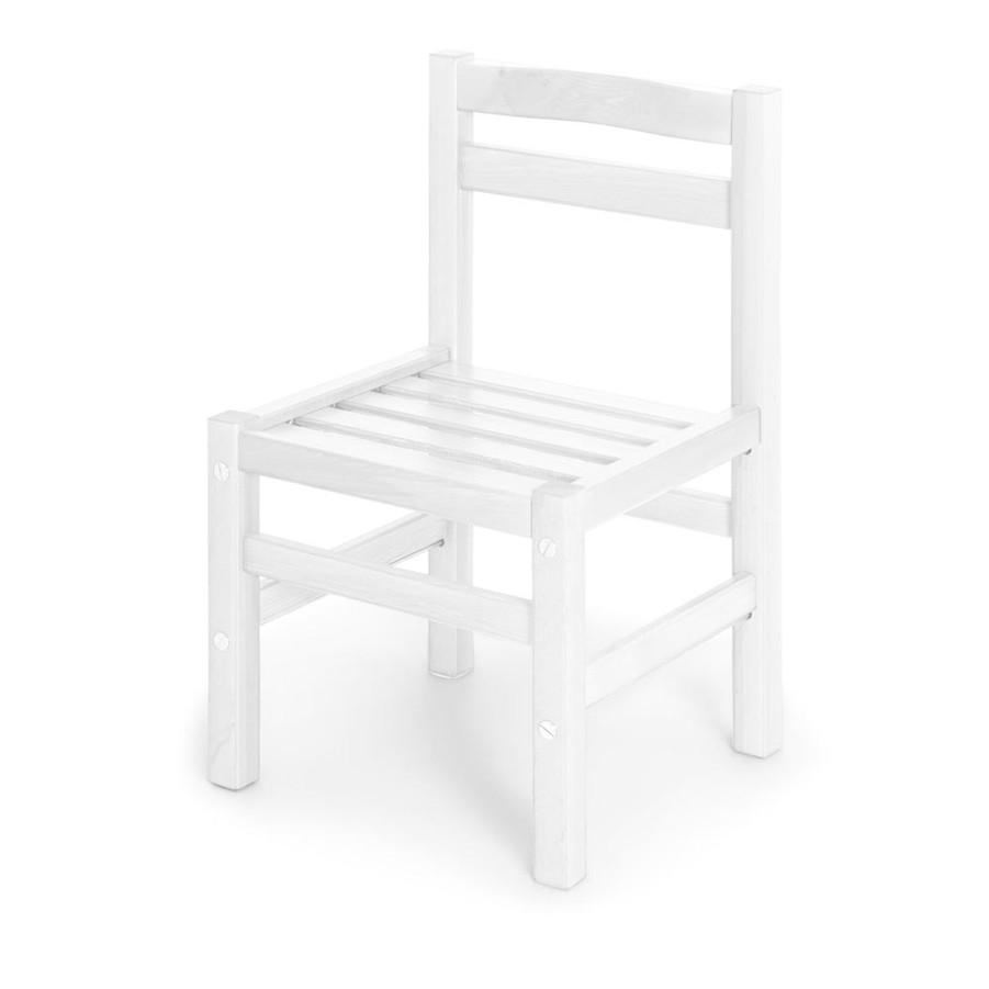 Vit furu stol