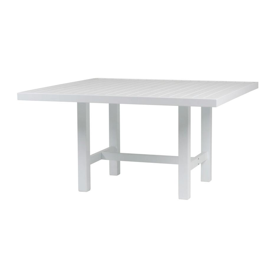 Vit aluminium bord 122x124cm
