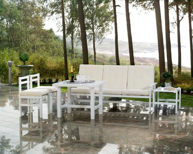 Vit aluminium 3-sits soffa - Bild 4