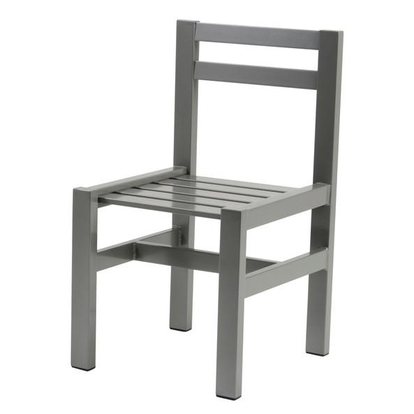 Grå aluminium stol