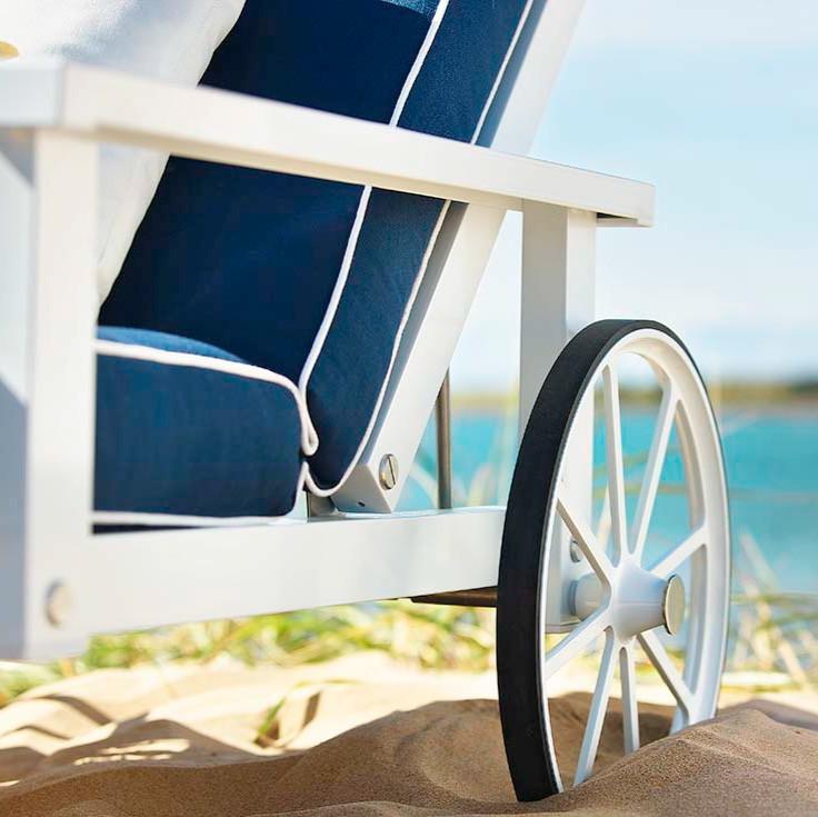 Vit aluminium liggvagn - Bild 3