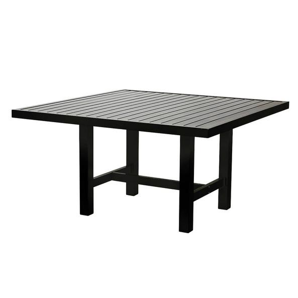 Svart aluminium bord 122x124cm