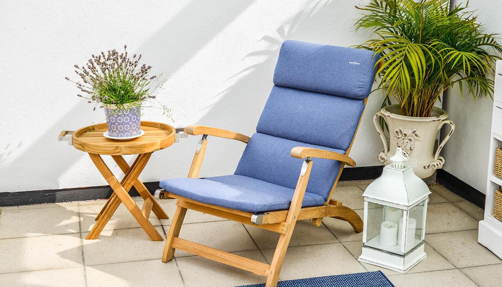 inout form Deckchair ljusblå dyna