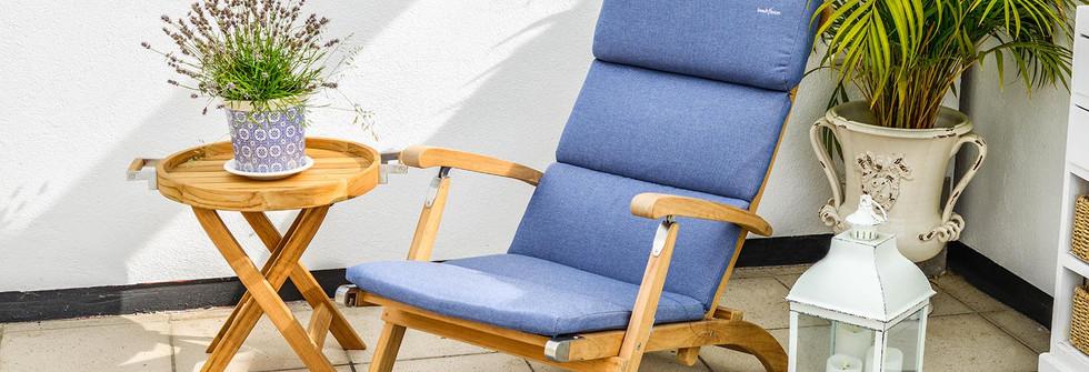 inout form Deckchair Ljusblå dyna 2