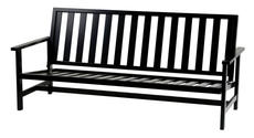 Soffa 3-sits svart aluminium