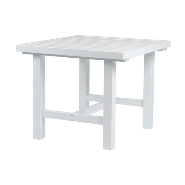 Vit aluminium bord 80x85cm