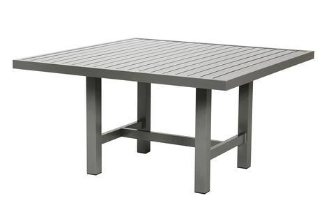 Bord 122x124cm grå aluminium
