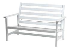 Soffa 2-sits vit aluminium