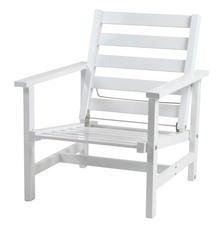 Fåtölj  vit aluminium