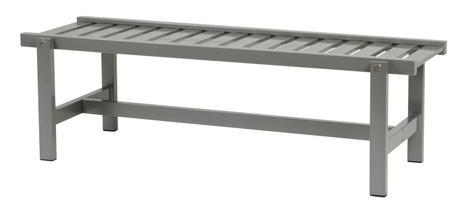 Bänk grå aluminium