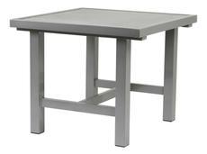 Bord 80x85cm grå aluminium