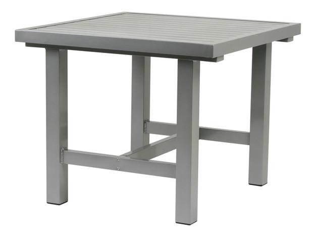 Grå aluminium bord 80x85cm