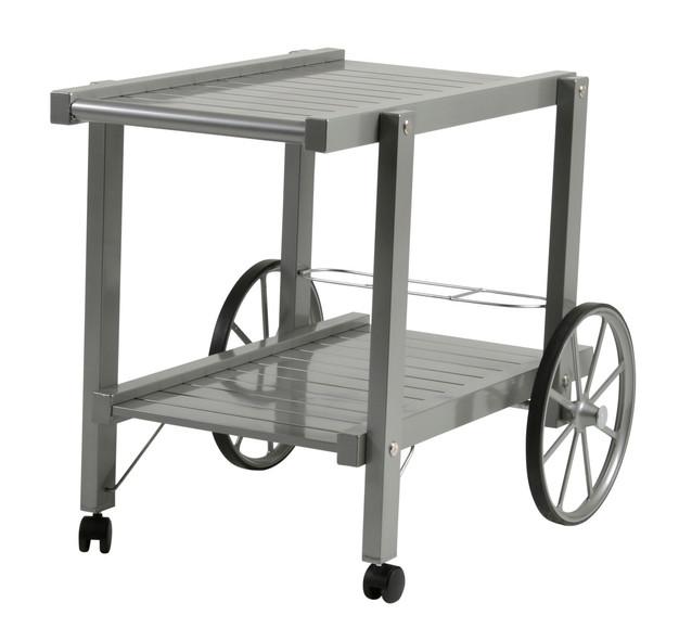 Grå aluminium vagn