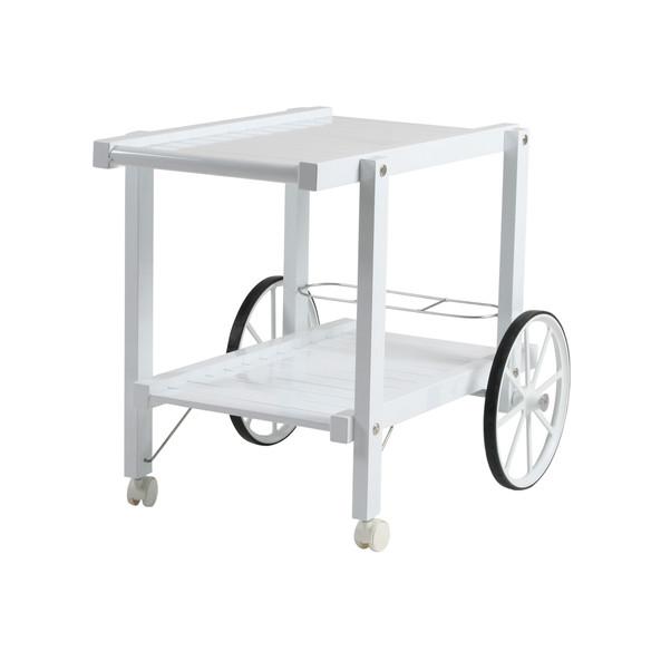 Vit aluminium serveringsvagn
