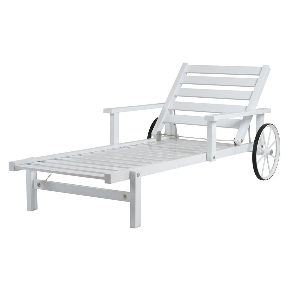 Vit aluminium liggvagn