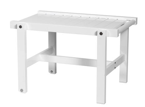 Rullbord vit aluminium