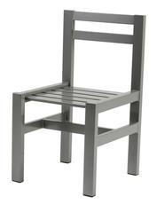 Stol grå aluminium