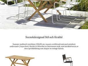 Svenskdesignad Stil och Kvalité