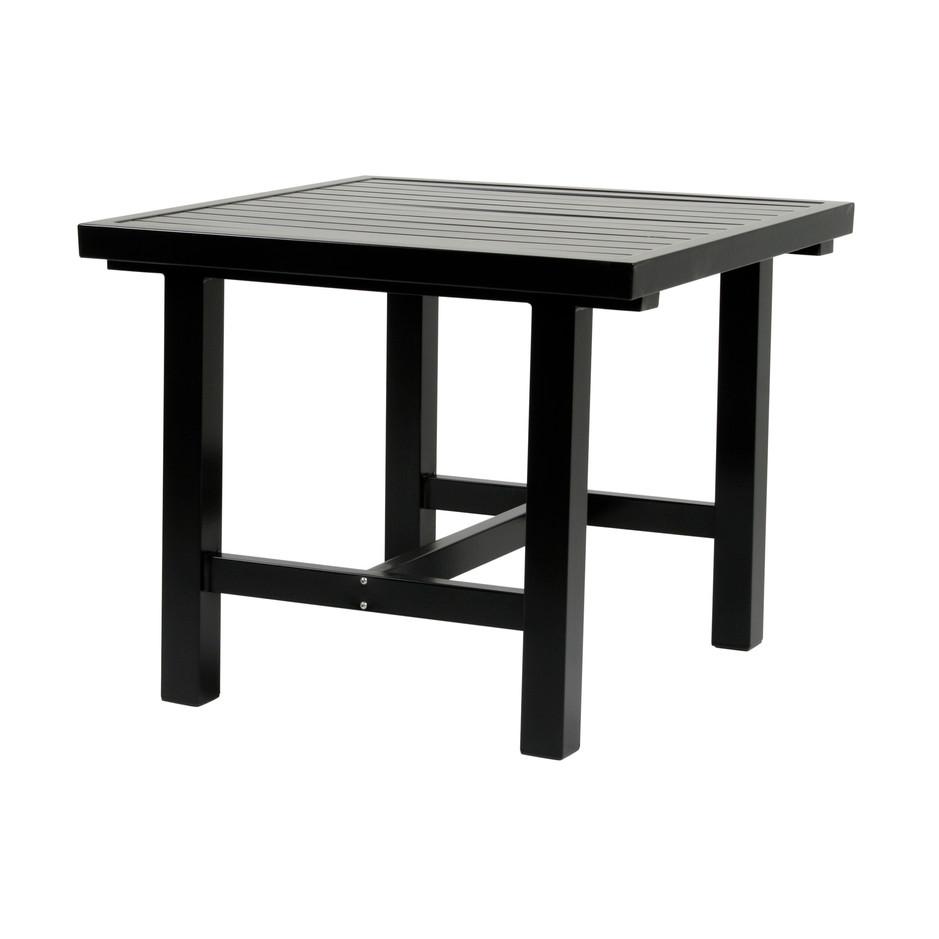 Svart aluminium bord 80x85cm