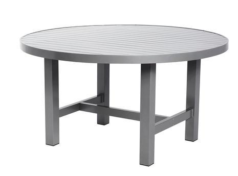 Bord Ø 120cm grå aluminium