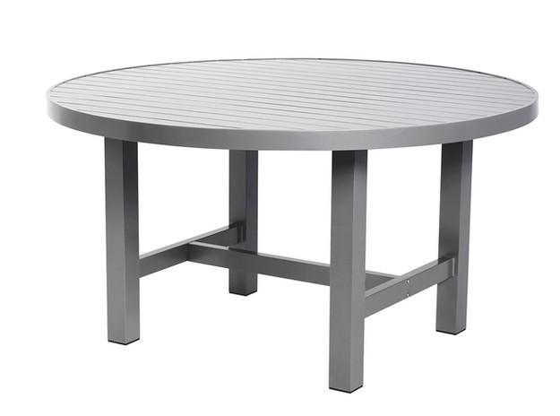 Grå aluminium bord Ø120cm