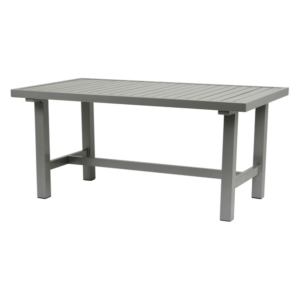Grå aluminium bord 80x142cm