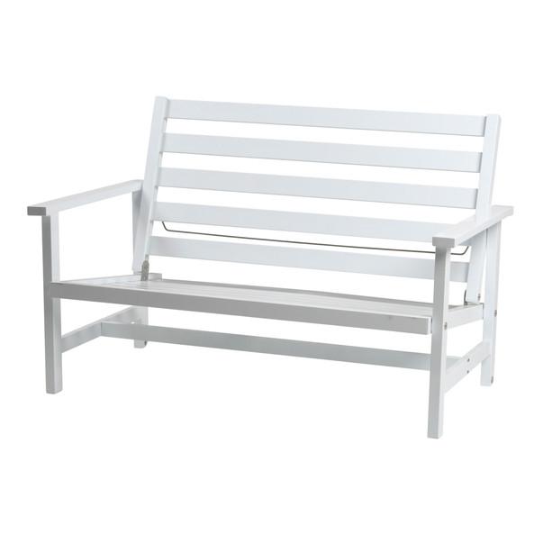 Vit aluminium 2-sits soffa