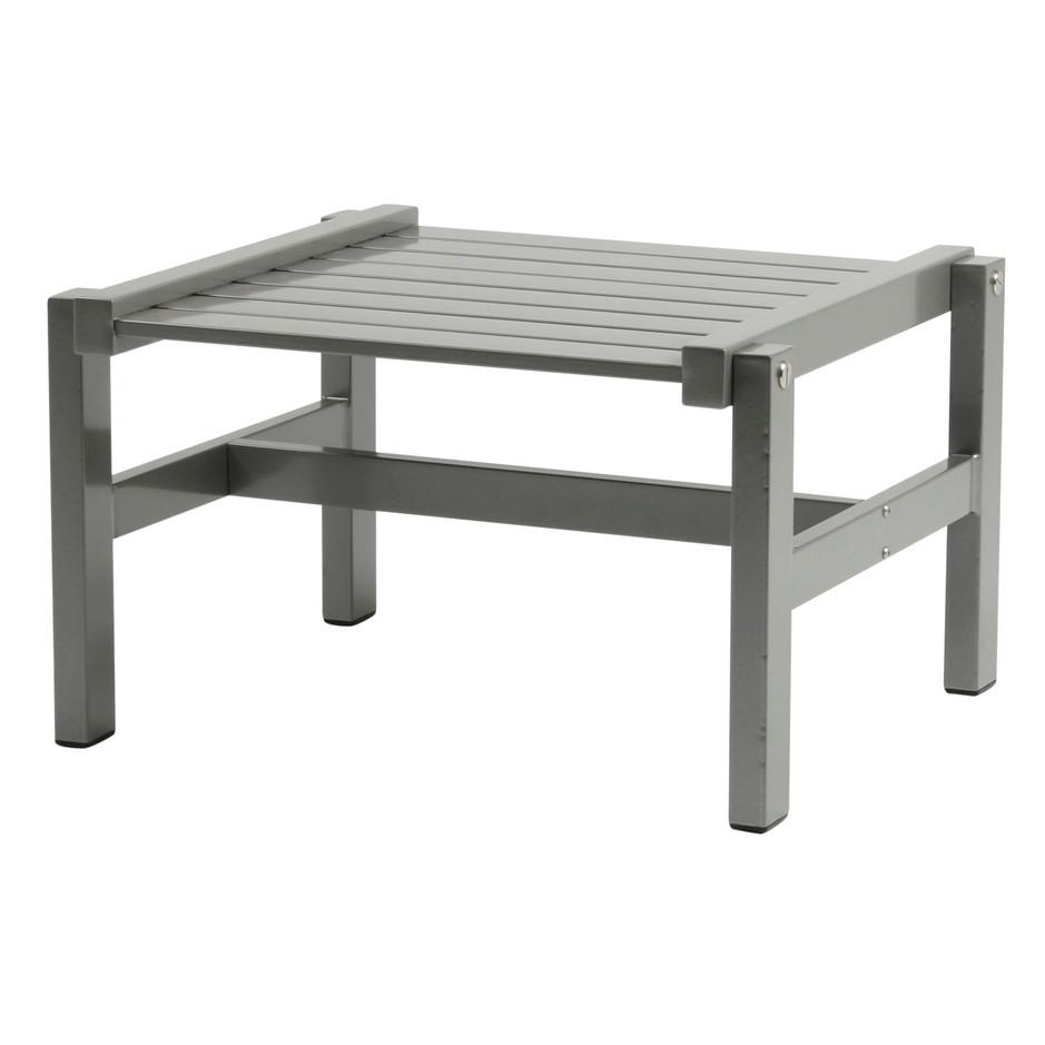 Grå aluminium pall