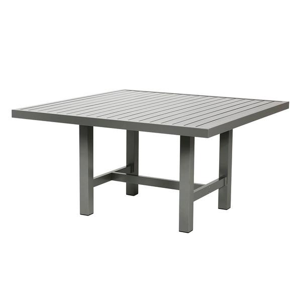 Grå aluminium bord 122x124cm