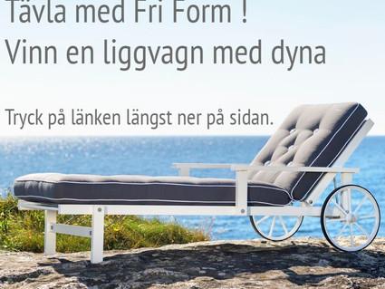 Fri Forms vårtävling! Vinn en liggvagn med dyna för ett värde av 17.000 kr - Tävlingen avslutad den