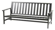 Soffa 3-sits grå aluminium